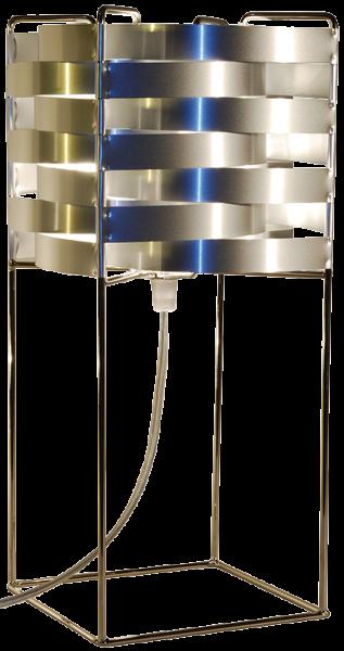 Ganymède lampe argent