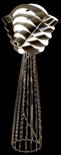 Lampadaire Auriga argent détourée